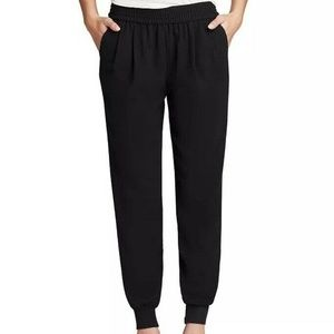 Joie Black Pleated Front Mariner Jogger Pants